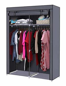 Youud Closet Organizer Wardrobe Portable Wardrobe Storage Clothes Closet Portable Closet Rod Storage Closet Standing Closet Folding Closet Portable Closet Organizer Wardrobe Closets Grey by Youud