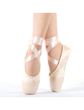 Red /Pink Ballet Dance Toe Shoes Professional Ladies Satin Pointe Shoes Silk by Unbranded