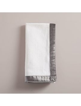 Luster Velvet Border Napkin Set by West Elm
