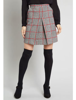 High Honors Plaid Skirt by Louche
