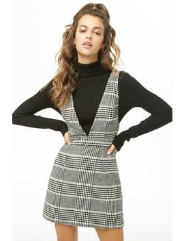 Glen Plaid Pinafore Dress by Forever 21