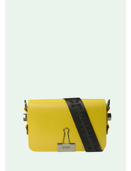 Yellow Mini Binder Clip by Off White