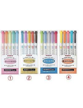Zebra Mildliner Soft Color Double Sided Highlighter Marker, 5 / 15 /20 Color Set by Zebra