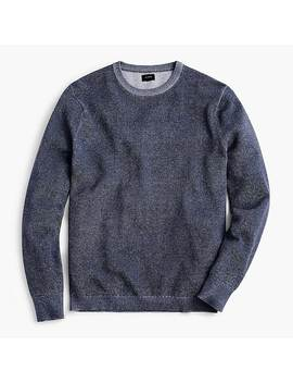 Cotton Plaited Texture Crew Neck Sweater by J.Crew