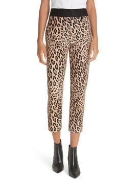 Cheetah Print Tuxedo Pants by Frame