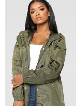 One Way Out Jacket   Olive by Fashion Nova