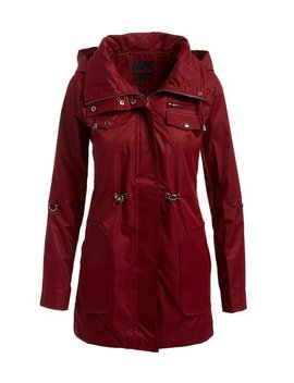 Burgundy Hooded Anorak   Women by Zulily