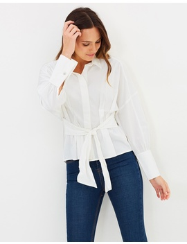 Tie Waist Shirt by Vero Moda