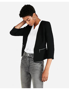 Zip Pocket Cutaway Blazer by Express