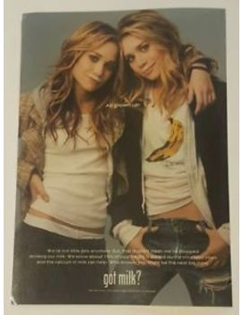 Mary Kate And Ashley Olsen Twins  Milk Ad 2004 Got Milk? Milk Mustache Laminated by Ebay Seller