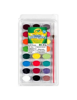 Crayola® Watercolor Paints With Brush Washable 24ct by Crayola