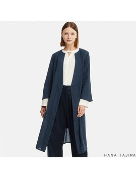 Women Wrap Long Coat (Hana Tajima) by Uniqlo