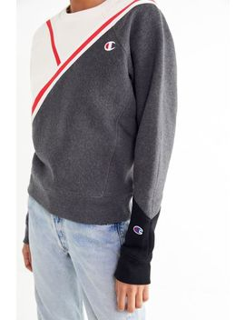 Champion Diagonal Colorblock Sweatshirt by Champion