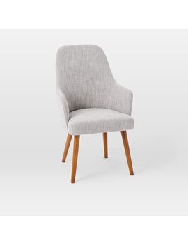 Mid Century High Back Upholstered Dining Chair by West Elm