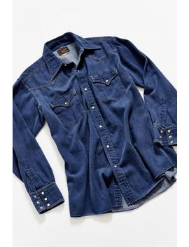 Vintage Champion Denim Western Shirt by Urban Outfitters Vintage
