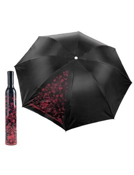 Trademark Home Wine Bottle Umbrella   Pink & Red by Trademark Home Collection