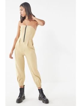 Uo Echo Twill Zip Front Jumpsuit by Urban Outfitters