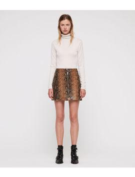 Lena Oba Leather Skirt by Allsaints