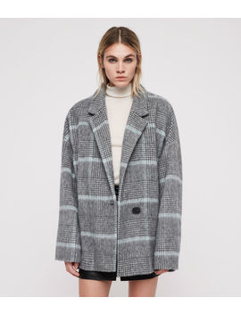 Simi Check Coat by Allsaints