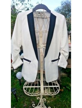 White Smart H&Amp;M Blazer/Jacket New With Tags Size 12 by Ebay Seller