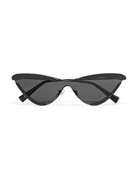 + Adam Selman The Scandal Cat Eye Metal Sunglasses by Le Specs