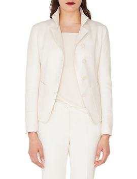 Panama Patch Silk & Cashmere Jacket by Akris