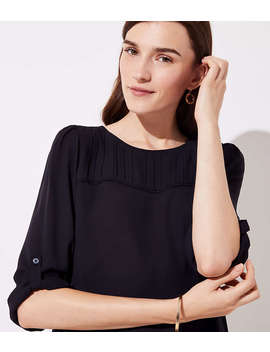 Petite Pleat Yoke Blouse by Loft