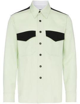 Flap Pocket Virgin Wool Shirt by Calvin Klein 205 W39nyc