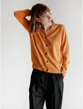 Studio Nicholson High V Cardigan   Saffron by Garmentory