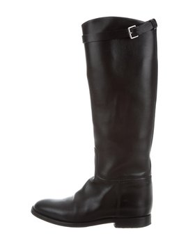 Buckle Accented Riding Boots by Hermès
