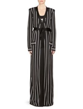 Striped Viscose Long Cardigan by Balmain