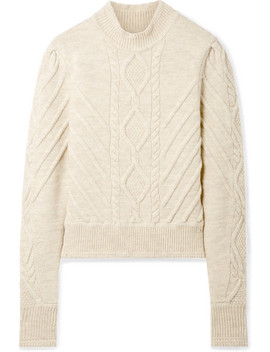Brantley Cable Knit Wool Blend Sweater by Isabel Marant