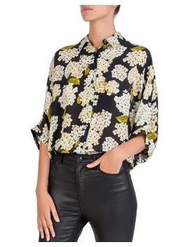 Silk Hortensia Print Shirt by The Kooples
