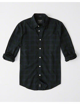 Relaxed Poplin Shirt by Abercrombie & Fitch