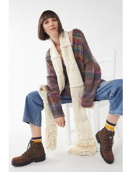 Mixed Knit Oblong Scarf by Urban Outfitters