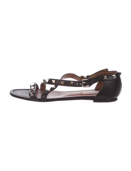 Rockstud Leather Sandals by Valentino