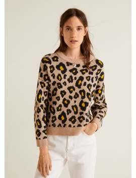 Pullover Mit Leopardenmuster by Mango