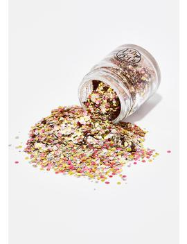 Metallic Rose Extra Chunky Bio Glitter by Disco Dust London