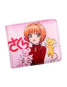 Cardcaptor Sakura Wallet Anime Girl Purse Pink With Coin Pocket by Bonanza