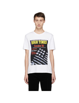 White High Times Edition 'cocaine 85' T Shirt by Wacko Maria
