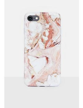 Pink Marble Iphone Case 7/8 Plus by Missguided