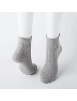 Women Heattech Socks (2 Pairs/Crew Toproll) by Uniqlo