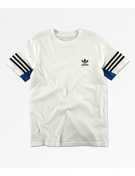 Adidas Boy's Authentic White T Shirt by Adidas
