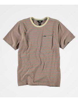 Volcom Boys Preston Striped T Shirt by Volcom
