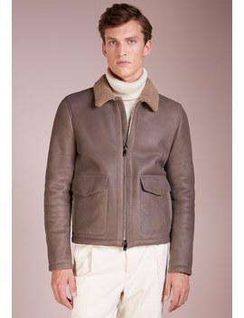 Shearling Jacket   Leren Jas by Corneliani