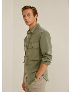 Denim Overhemd Met Zakken by Mango