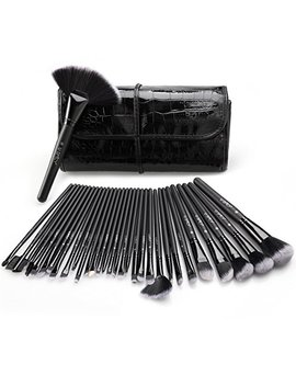 Makeup Brush Set, U Spicy 32 Pieces Professional Makeup Brushes Essential Cosmetics With Case, Face Eye Shadow Eyeliner Foundation Blush Lip... by U Spicy