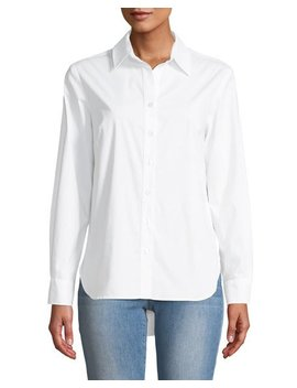 Diedre Pleat Back Button Down Shirt by Finley
