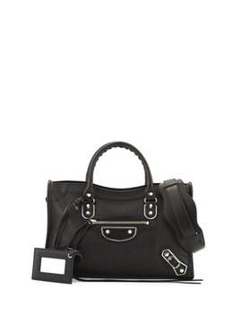 Classic City Small Metallic Edge Satchel Bag by Balenciaga
