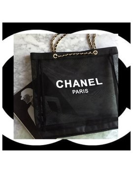 New Chanel Gold Chain Strap Tote Bag by Custom Yeti Finds